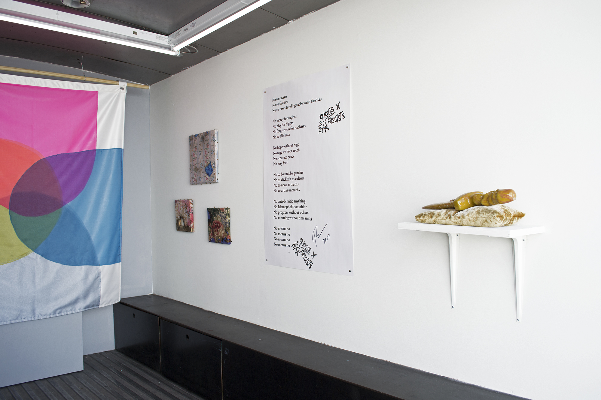 """Fuck the Patriarchy"" Installation Shot (Photo by Flynn Casey)"